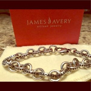 James Avery Beaded Cable Charm Bracelet Large